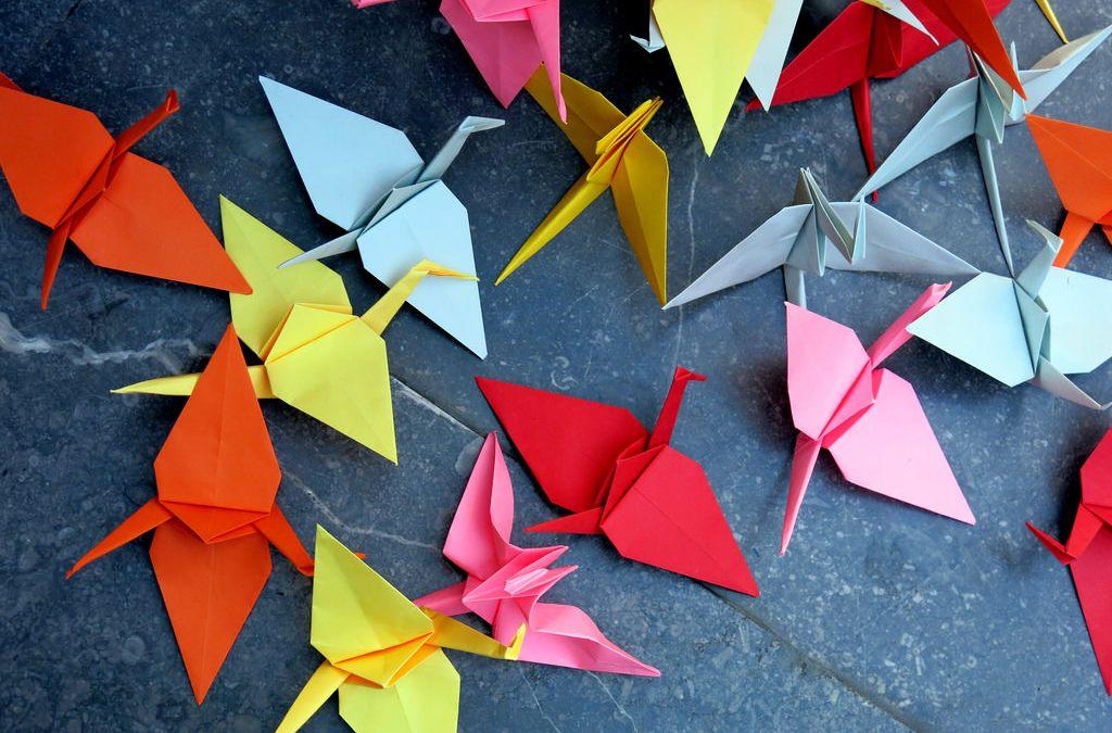 grullas origami japon