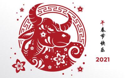 2021 Año Chino Buey de Metal
